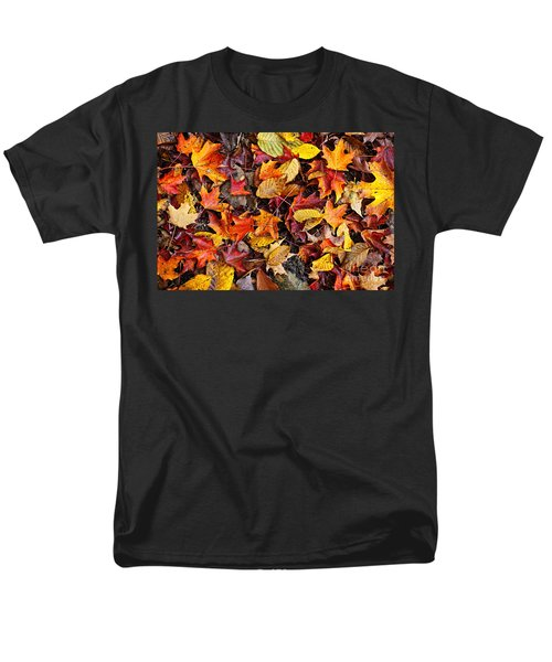 Fall leaves background T-Shirt by Elena Elisseeva