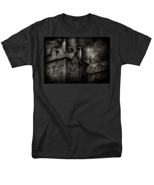 Fantasy - Haunted - It was a dark and stormy night T-Shirt by Mike Savad