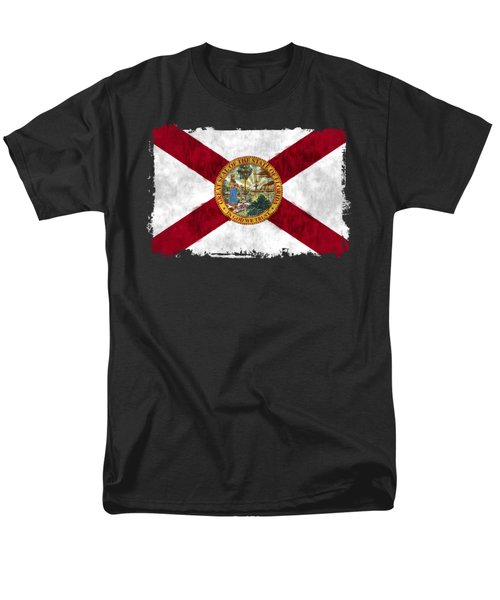 Florida Flag Men's T-Shirt  (Regular Fit) by World Art Prints And Designs