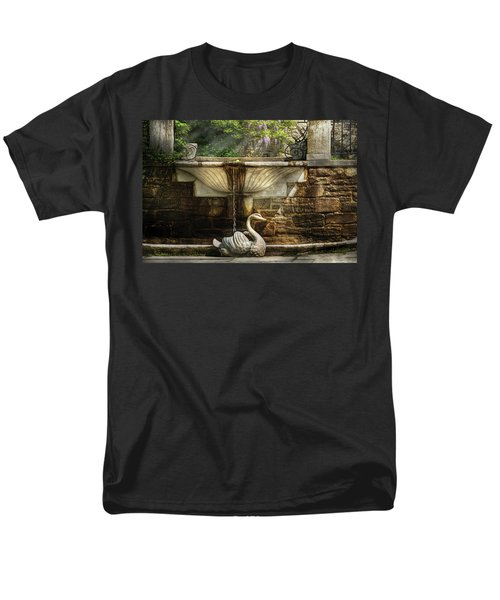 Flower - Wisteria - Fountain T-Shirt by Mike Savad