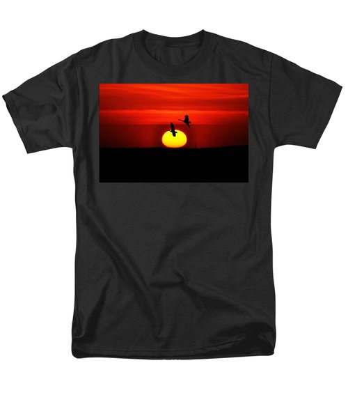 Flying North at Sunrise T-Shirt by Bill Cannon