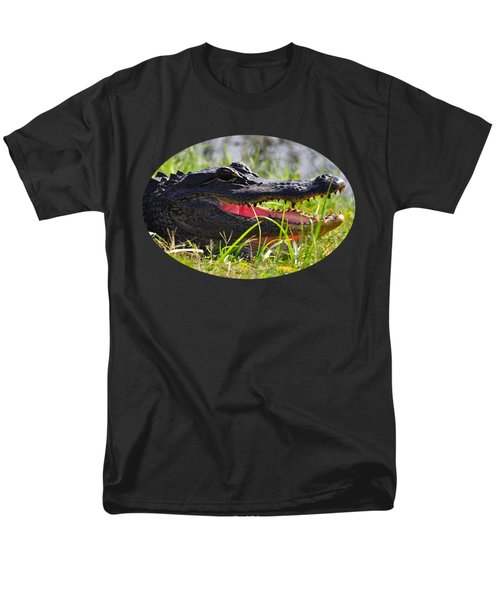 Gator Grin .png Men's T-Shirt  (Regular Fit) by Al Powell Photography USA