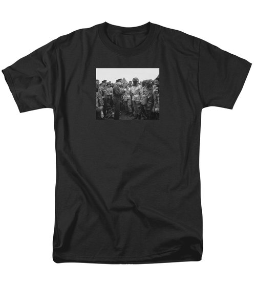 General Eisenhower On D-day  Men's T-Shirt  (Regular Fit) by War Is Hell Store