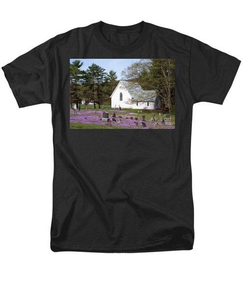 Graveyard Phlox Country Church T-Shirt by John Stephens