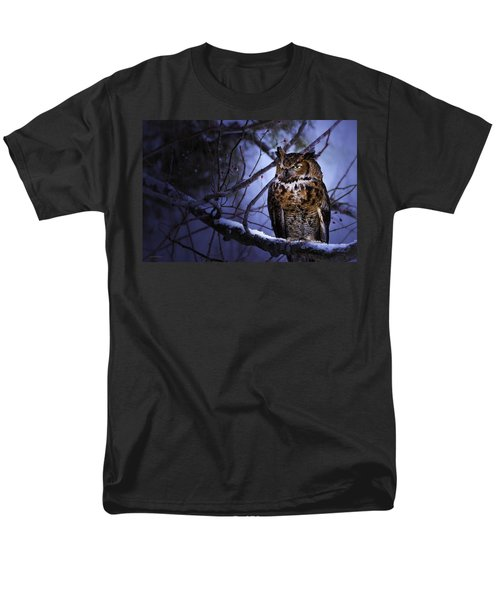 Great Horned T-Shirt by Ron Jones