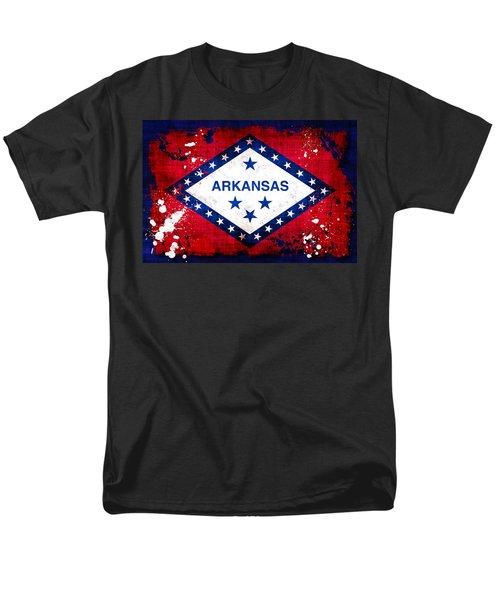 Grunge Style Arkansas Flag T-Shirt by David G Paul
