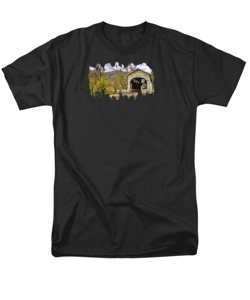Harris Covered Bridge Men's T-Shirt  (Regular Fit) by Thom Zehrfeld