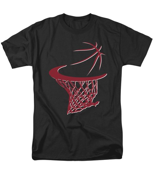 Heat Basketball Hoop Men's T-Shirt  (Regular Fit) by Joe Hamilton