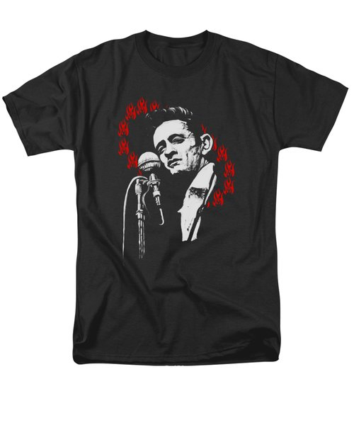 Johnny Cash Ring Of Fire T Shirt Print Men's T-Shirt  (Regular Fit) by Melissa O'Brien