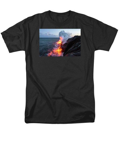 Kilauea Volcano Lava Flow Sea Entry 3- The Big Island Hawaii T-Shirt by Brian Harig