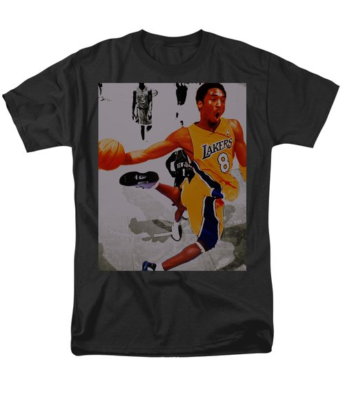 Kobe Bryant Taking Flight 3a Men's T-Shirt  (Regular Fit) by Brian Reaves
