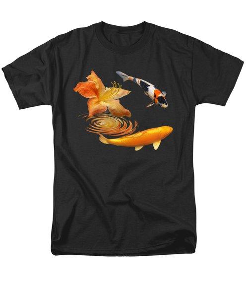 Koi With Azalea Ripples Square Men's T-Shirt  (Regular Fit) by Gill Billington