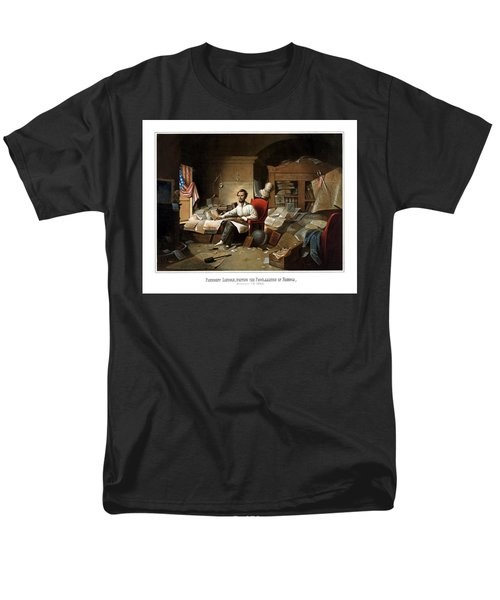 Lincoln Writing The Emancipation Proclamation T-Shirt by War Is Hell Store