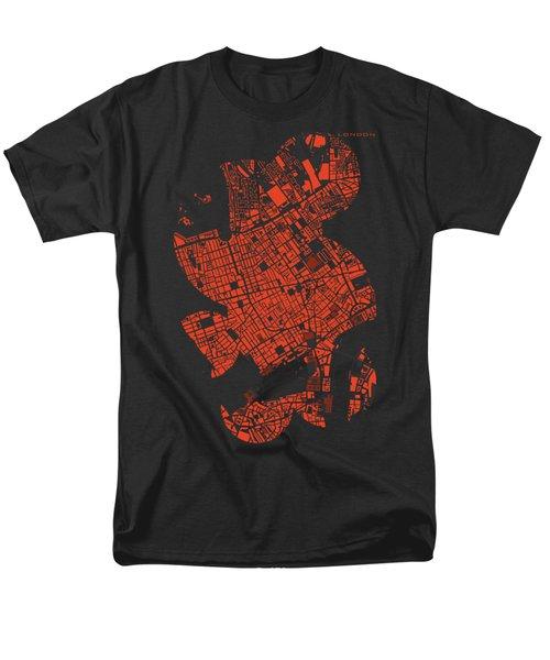 London Engraving Map Men's T-Shirt  (Regular Fit) by Jasone Ayerbe- Javier R Recco