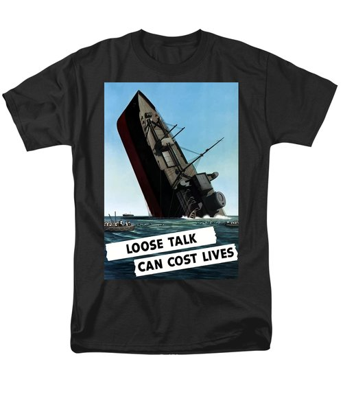 Loose Talk Can Cost Lives T-Shirt by War Is Hell Store