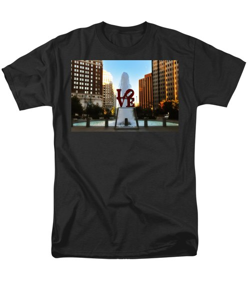 Love Park - Love Conquers All T-Shirt by Bill Cannon