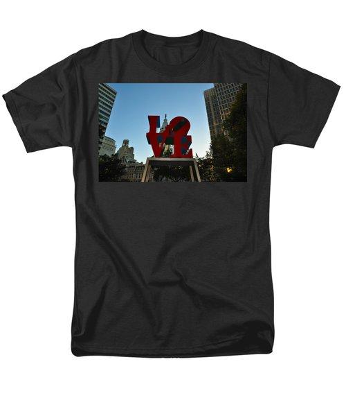 Love Park in Philadelphia T-Shirt by Bill Cannon