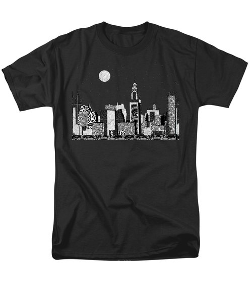 Manhattan At Night New York Swings Men's T-Shirt  (Regular Fit) by Cecely Bloom