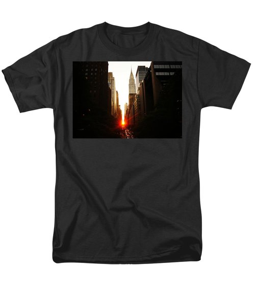 Manhattanhenge Sunset Over The Heart Of New York City Men's T-Shirt  (Regular Fit) by Vivienne Gucwa