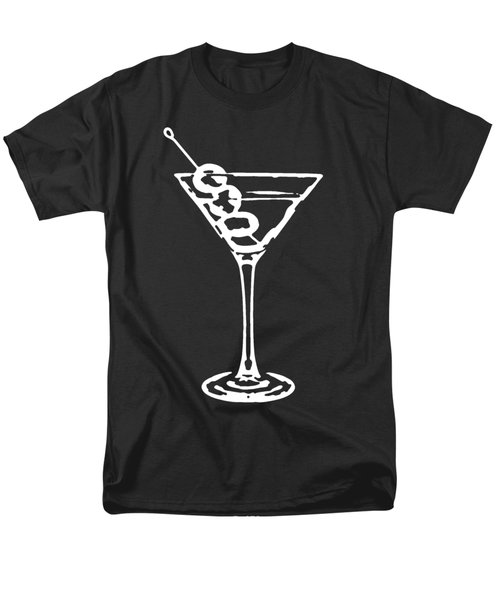 Martini Glass Tee White Men's T-Shirt  (Regular Fit) by Edward Fielding