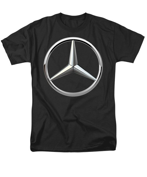 Mercedes-benz - 3d Badge On Black Men's T-Shirt  (Regular Fit) by Serge Averbukh