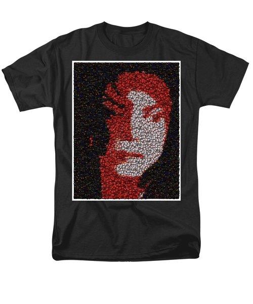 Michael Jackson Bottle Cap Mosaic T-Shirt by Paul Van Scott