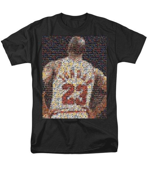 Michael Jordan Card Mosaic 2 T-Shirt by Paul Van Scott