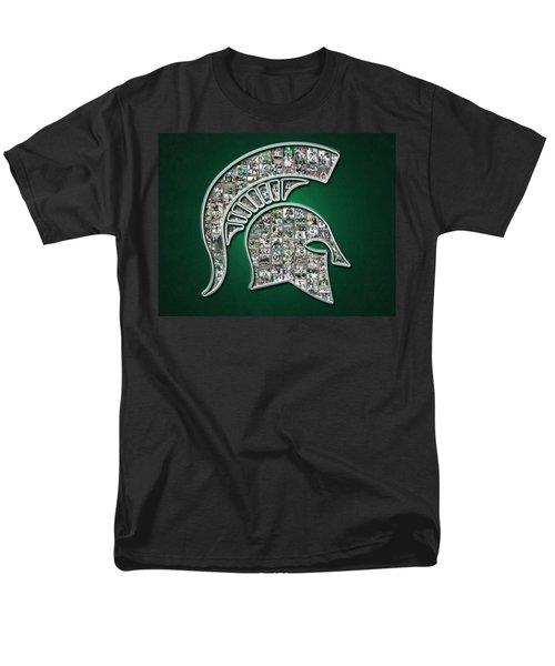 Michigan State Spartans Football Men's T-Shirt  (Regular Fit) by Fairchild Art Studio