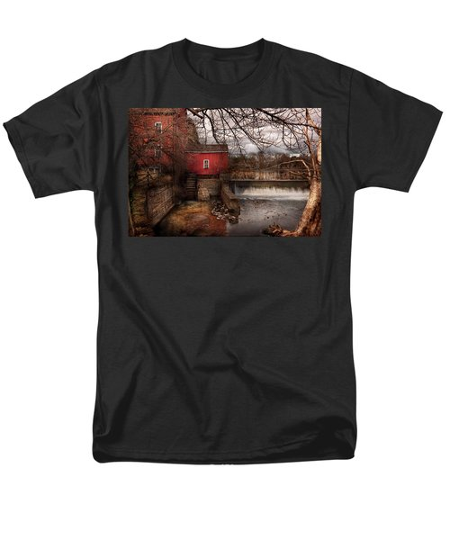 Mill - Clinton NJ - The mill and wheel T-Shirt by Mike Savad