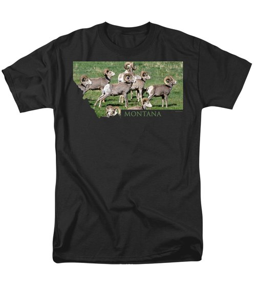 Montana -bighorn Rams Men's T-Shirt  (Regular Fit) by Whispering Peaks Photography