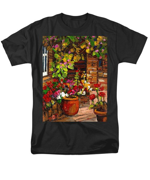 MONTREAL CITYSCENES HOMES AND GARDENS T-Shirt by CAROLE SPANDAU