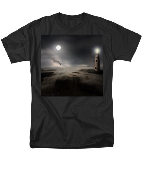 Moonlight Lighthouse T-Shirt by Lourry Legarde
