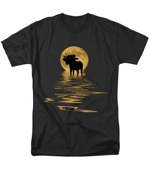 Moose In The Moonlight Men's T-Shirt  (Regular Fit) by Shane Bechler