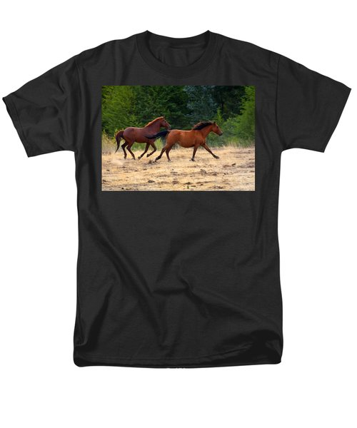 Mustang Gallop T-Shirt by Mike  Dawson