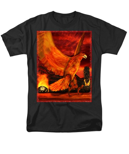 Myth Series 3 Phoenix Fire Men's T-Shirt  (Regular Fit) by Sharon and Renee Lozen