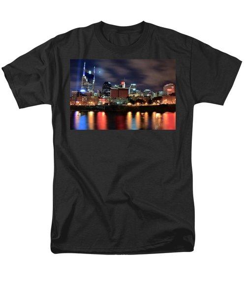 Nashville Skyline Men's T-Shirt  (Regular Fit) by Frozen in Time Fine Art Photography