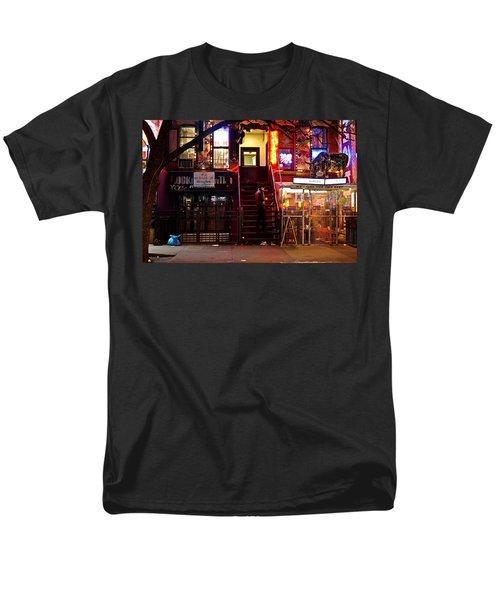 Neon Lights - New York City at Night T-Shirt by Vivienne Gucwa