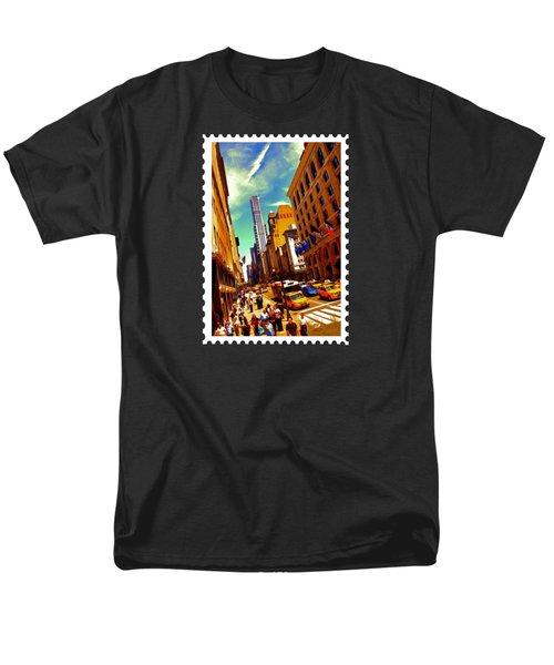 New York City Hustle Men's T-Shirt  (Regular Fit) by Elaine Plesser