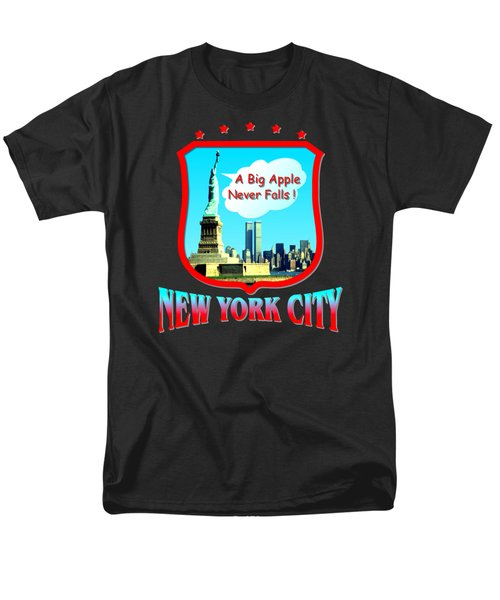 New York City Big Apple - Tshirt Design Men's T-Shirt  (Regular Fit) by Art America Online Gallery