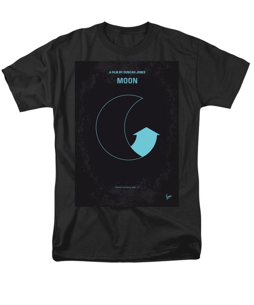 No053 My Moon 2009 minimal movie poster T-Shirt by Chungkong Art