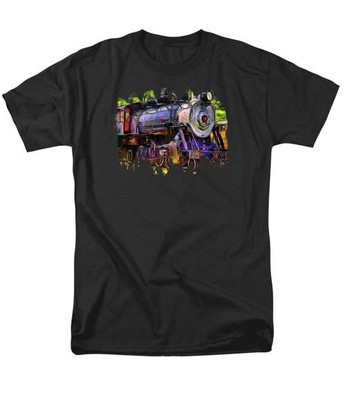 Old Locomotive No.90 Version 2 Men's T-Shirt  (Regular Fit) by Thom Zehrfeld