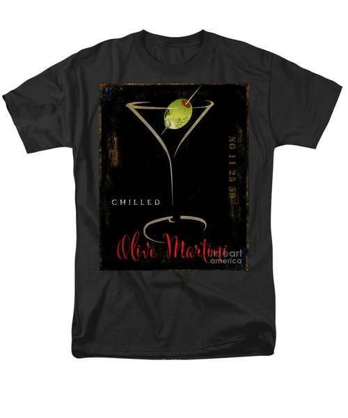 Olive Martini Men's T-Shirt  (Regular Fit) by Mindy Sommers
