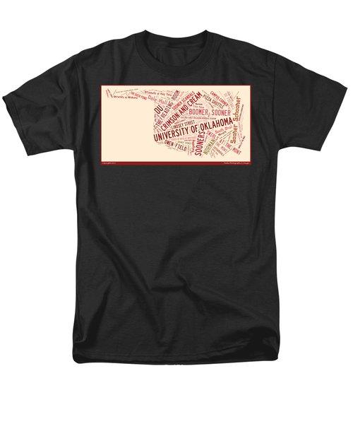 Ou Word Art University Of Oklahoma Men's T-Shirt  (Regular Fit) by Roberta Peake