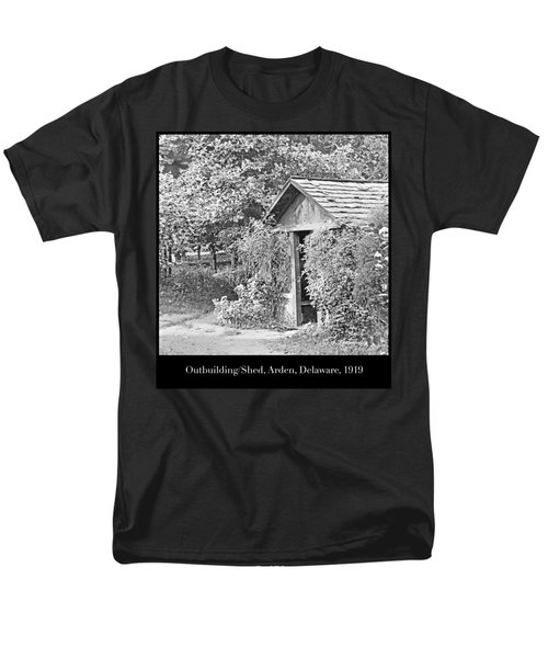 Men's T-Shirt  (Regular Fit) featuring the photograph Outbuilding, Shed Arden Delaware 1919 by A Gurmankin