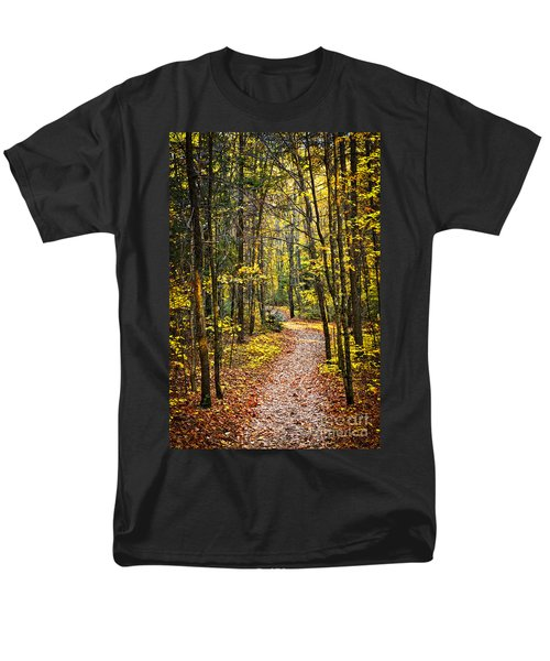 Path in fall forest T-Shirt by Elena Elisseeva