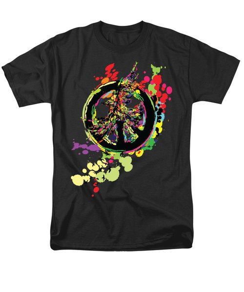 Peace And Peace Men's T-Shirt  (Regular Fit) by Cindy Shim
