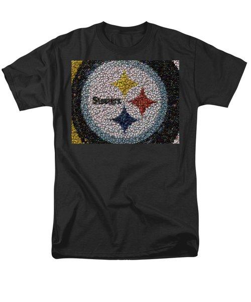 Pittsburgh Steelers  Bottle Cap Mosaic T-Shirt by Paul Van Scott