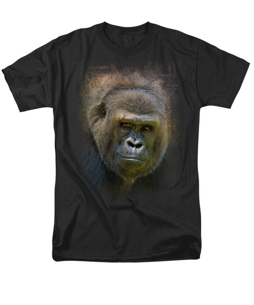 Portrait Of A Gorilla Men's T-Shirt  (Regular Fit) by Jai Johnson