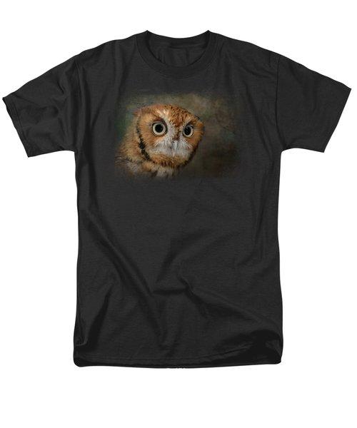 Portrait Of An Eastern Screech Owl Men's T-Shirt  (Regular Fit) by Jai Johnson