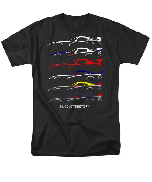 Racing Snake Silhouettehistory Men's T-Shirt  (Regular Fit) by Gabor Vida